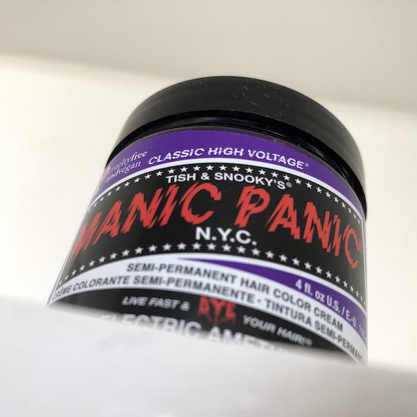 Jar of Manic Panic Electric Amethyst hair dye